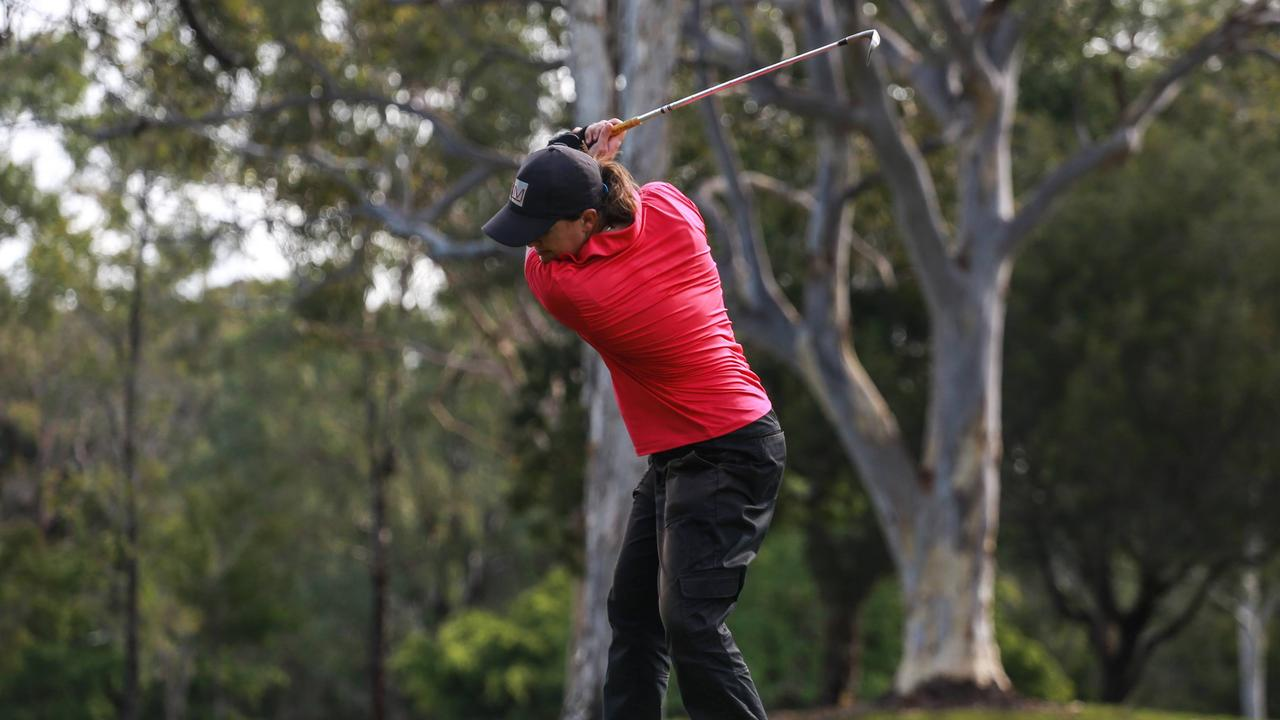 SWING: Noosa golf coach Ellesha Michie.