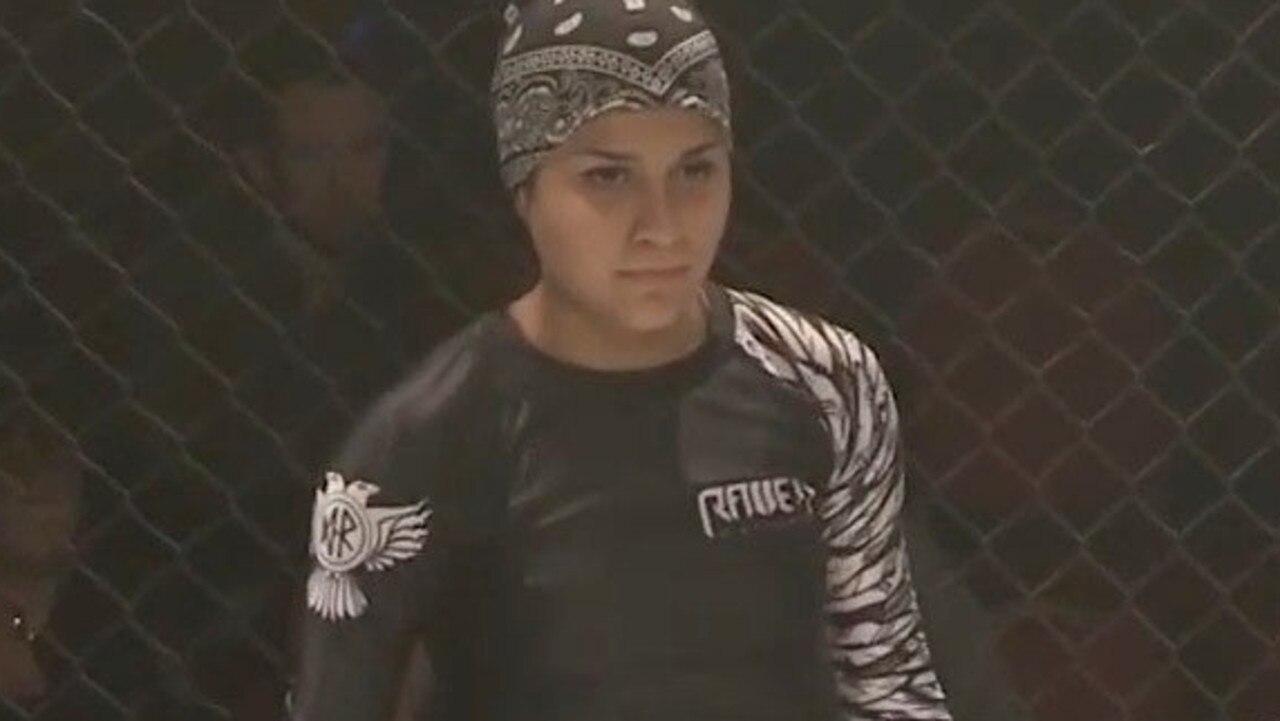 Sai Aletaha preparing for her fight on Saturday night.