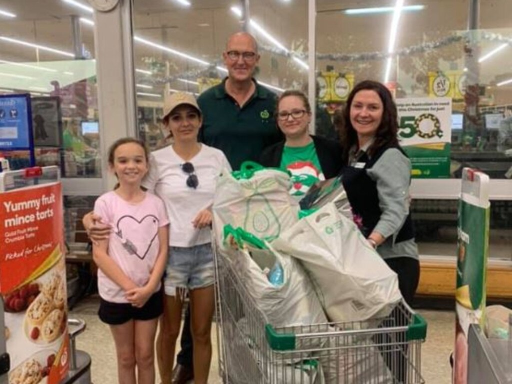 Ms Lawrence said she was overwhelmed by the gesture from Woolworths in Kempsey.