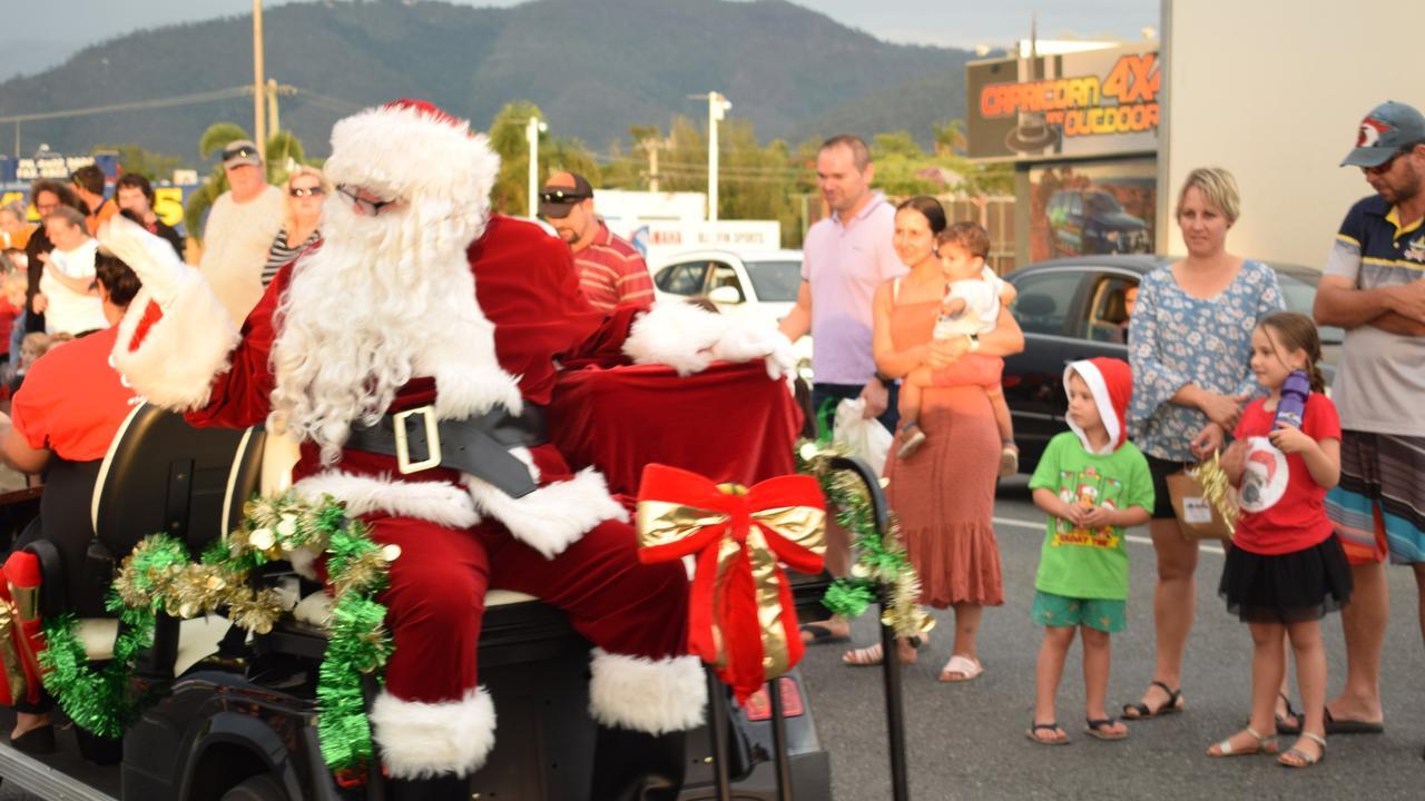 CHRISTMAS CHEER: Santa made a grand appearance at last year's annual Christmas Parade.