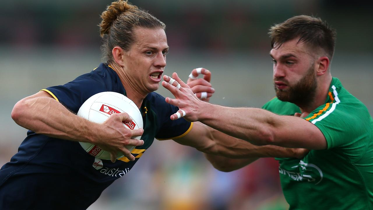 Nathan Fyfe was part of the last International Rules series. Picture: Getty Images