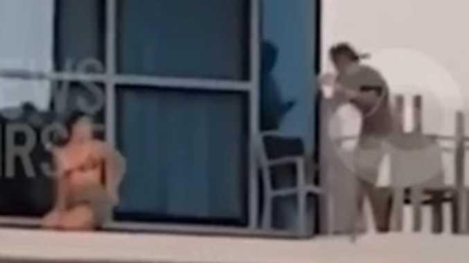 WATCH: Death-defying Schoolie filmed in high-rise stunt