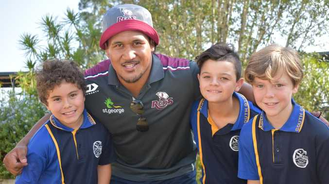 Wallabies star's message to Gympie kids: 'Chase your dreams'