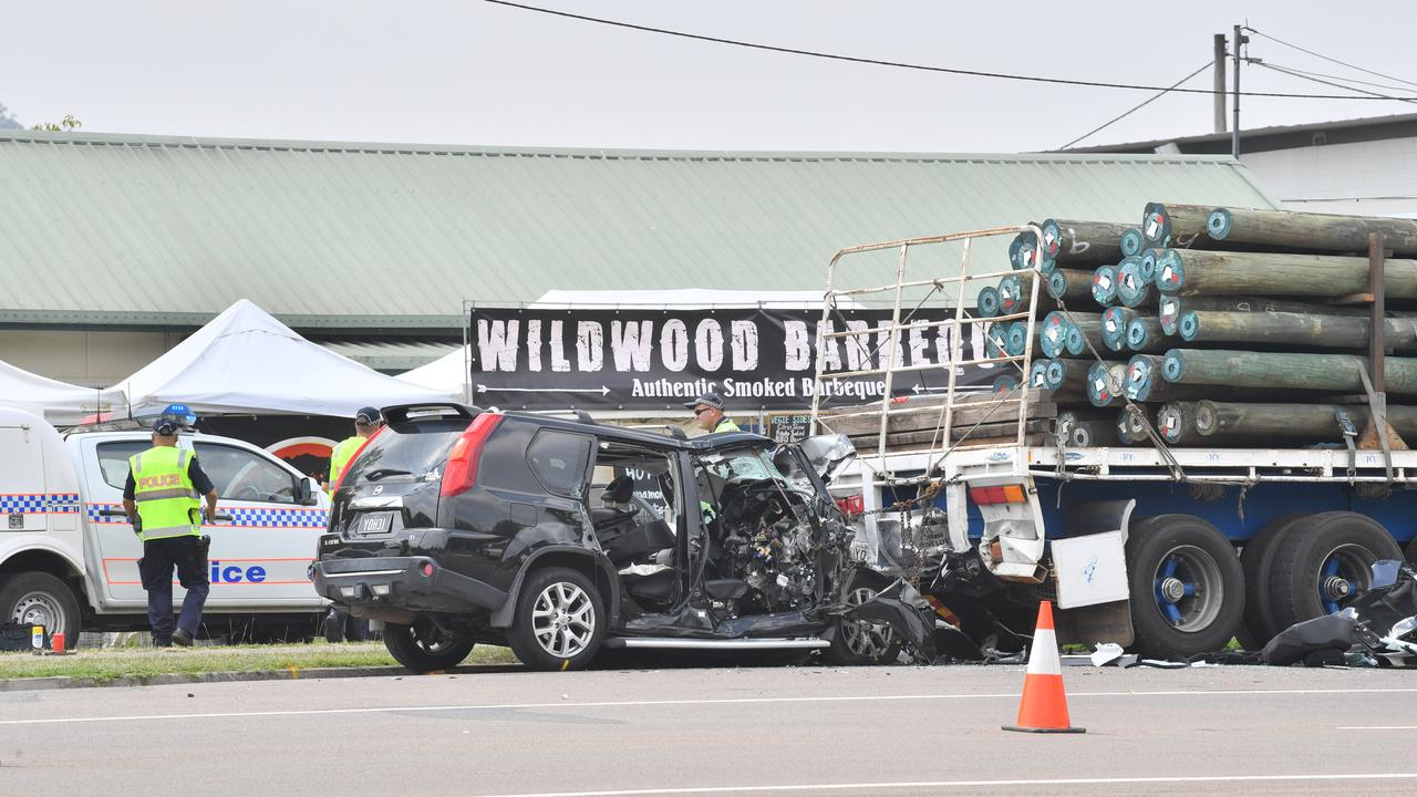 Mr Suzuki was declared dead at the scene when his car smashed into the trailer on Friday morning. Photo: John McCutcheon