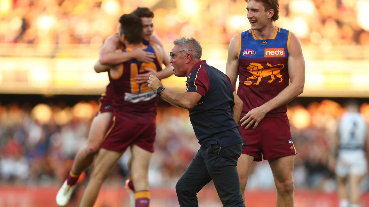Lions coach Chris Fagan has quickly turned into his team into a legitimate premiership contender. Pic: Getty Images