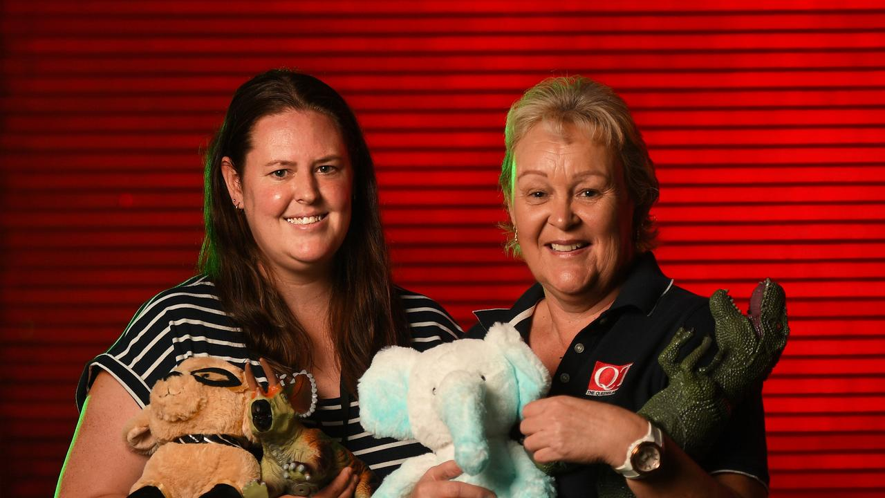 Ashleigh Howarth and Karen McCoombes promote The Queensland Times' Adopt a Family Appeal.