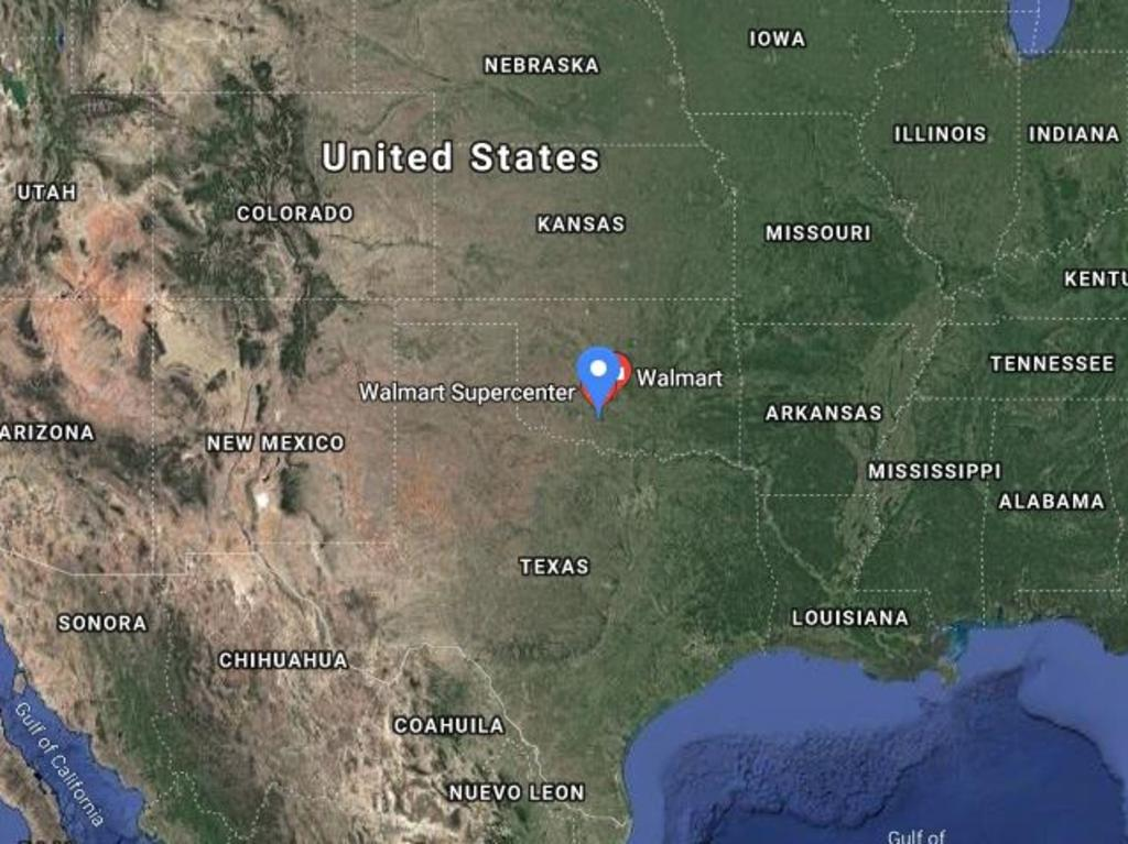 The shooting happened at a Walmart in Duncan, Oklahoma. Picture: Google Maps