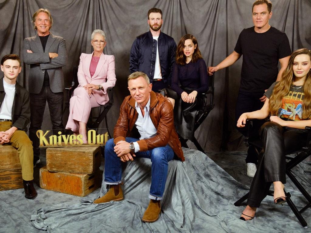 The cast of new movie Knives Out. Picture: Chelsea Guglielmino/Getty Images