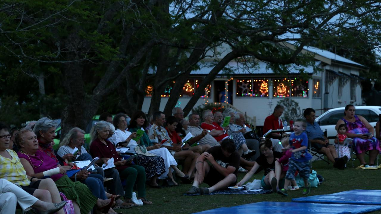 Carol singers gathered at St John's Anglican Church, Blackbutt to ring in the days leading up to Christmas. Photo: Tessa Mapstone
