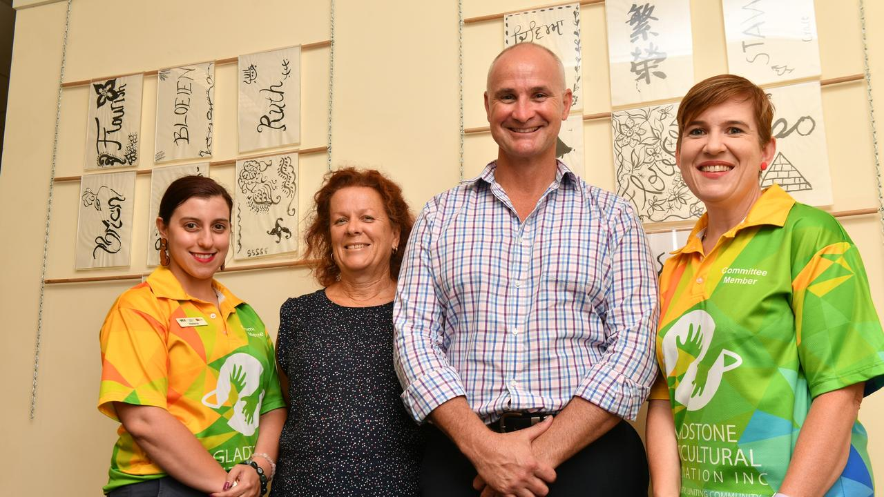 The Gladstone Multicultural Association and Welcoming Intercultural Neighbours have received $10,000 each. Pictured: Helena Sant, Lee McIvor, Glenn Butcher and Karen Windress.