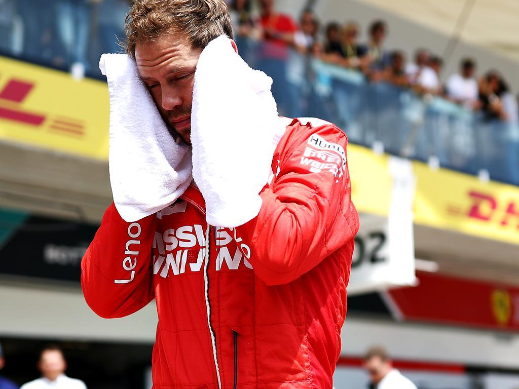 Sebastian Vettel wanted somewhere to hide in Brazil.