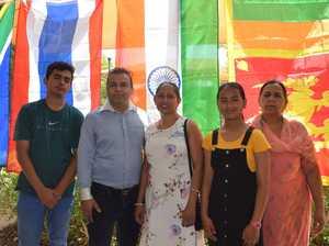Loish and Rajesh Dhillon with Urmila Kumara, Sanjana