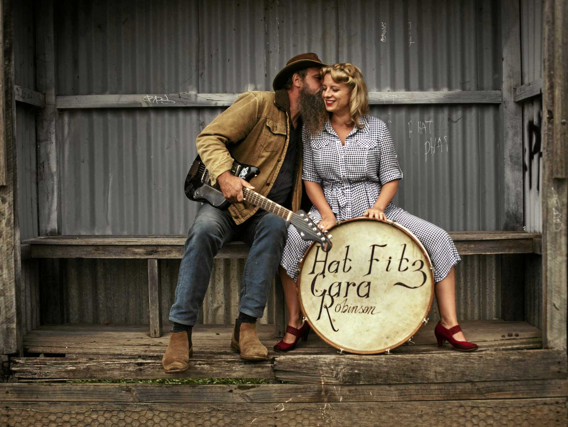 LOCAL GIGS: Aussie duo Hat Fitz and Cara will perform at this year's Festival of Small Halls Summer Tour.