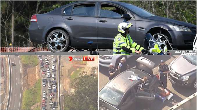 Cars rammed as wild Bruce Hwy chase ends in dramatic arrest