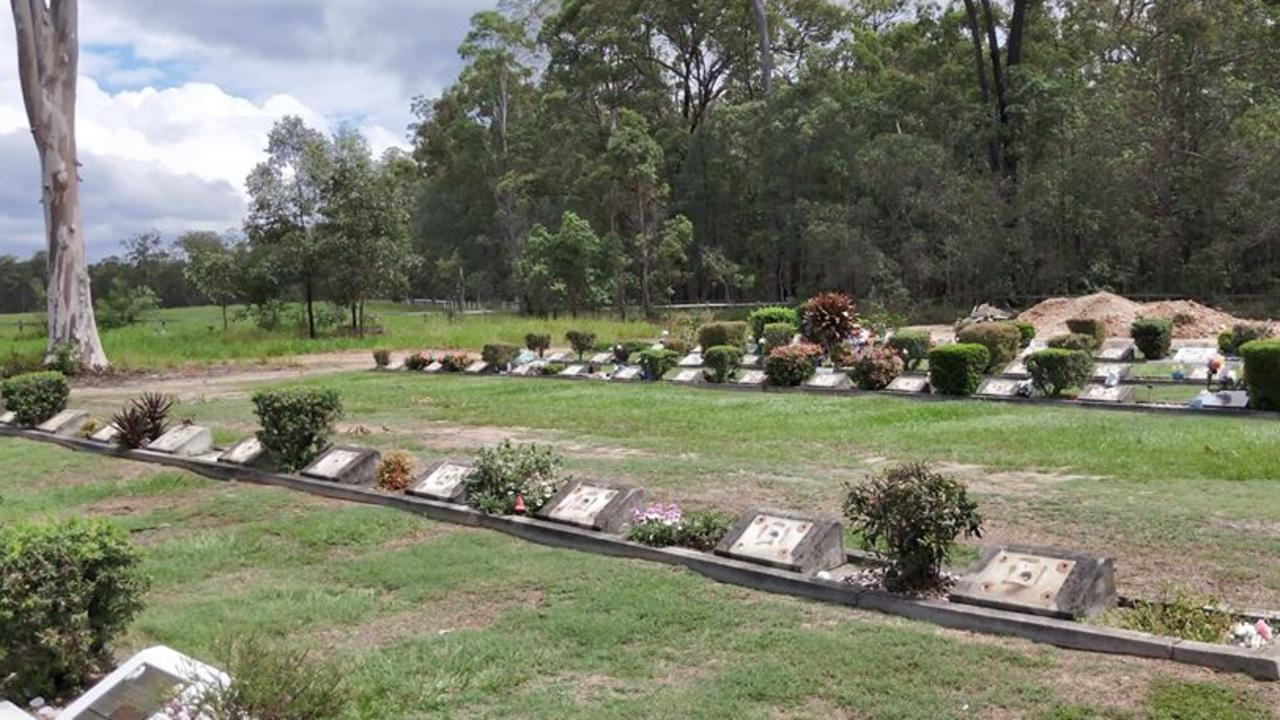Police are investigating after 52 plaques were stolen from a cemetery at Deception Bay. Photo: Anthony Castles, for Redcliffe Herald