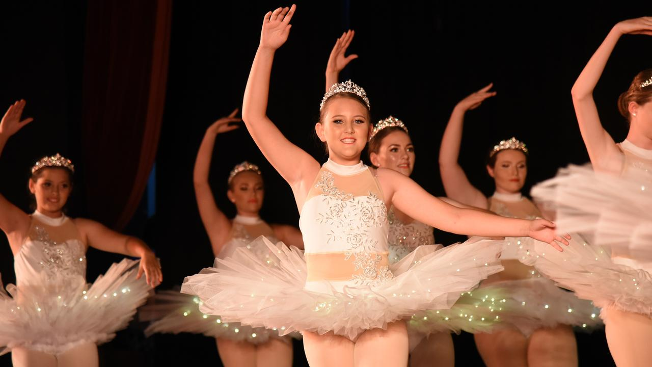 ON POINTE: Junior Pointe student Layla at Laura's School of Dance's Finale in Gayndah. Photo: Alex Treacy