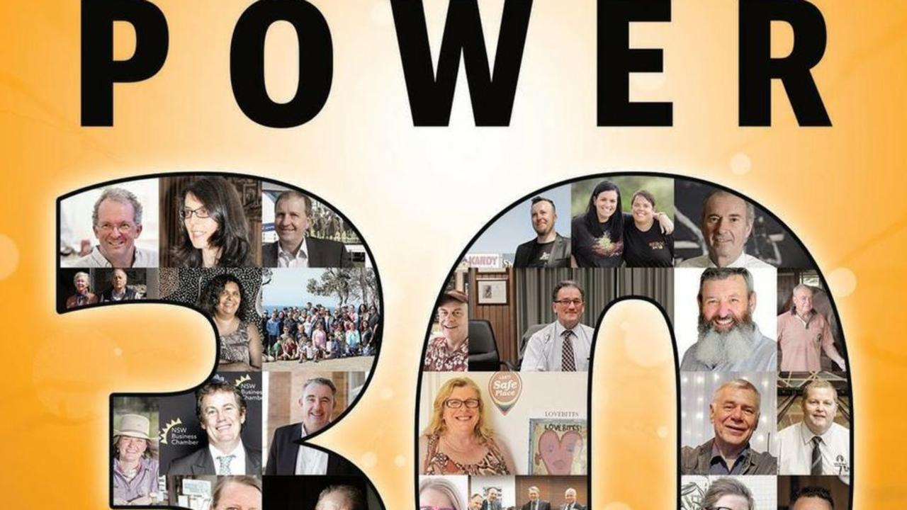 Each year The Daily Examiner counts down the Power 30 - Most Influential People in the Clarence Valley.