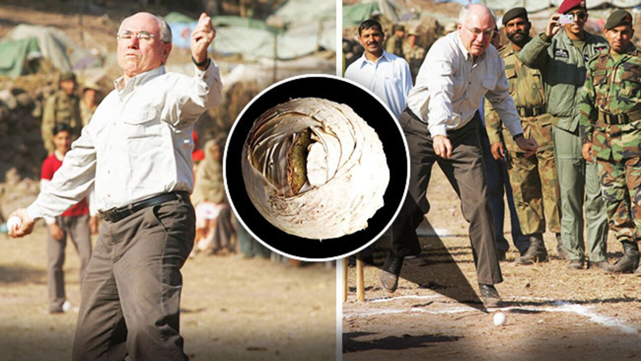 Startling new evidence has emerged to absolve former Prime Minister John Howard for delivering his famous halftrack mully grubber on a dusty pitch in Pakistan.
