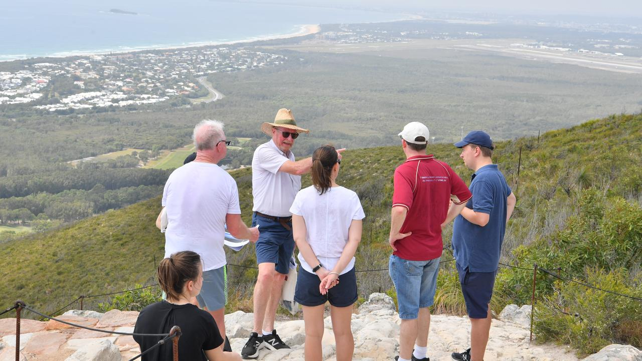 Judge Nicole Kefford conducts a site inspection of Mount Coolum on day two of a Planning and Environment Court hearing into the Sekisui House development. She is joined by the legal teams for the appellants Development Watch and the Sunshine Coast Environment Council, and respondents Sunshine Coast Council and Sekisui. Photo: John McCutcheon / Sunshine Coast Daily
