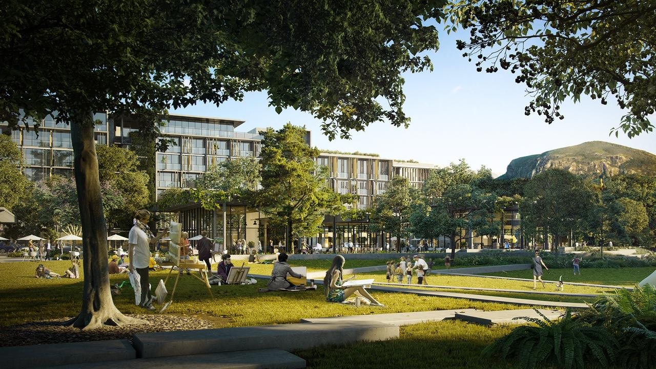 ARTIST IMPRESSIONS: Latest Images of Sekisui proposed development in Coolum. Park activation, with views back to The Westin Coolum Resort & Spa and Mount Coolum. Photo: Contributed