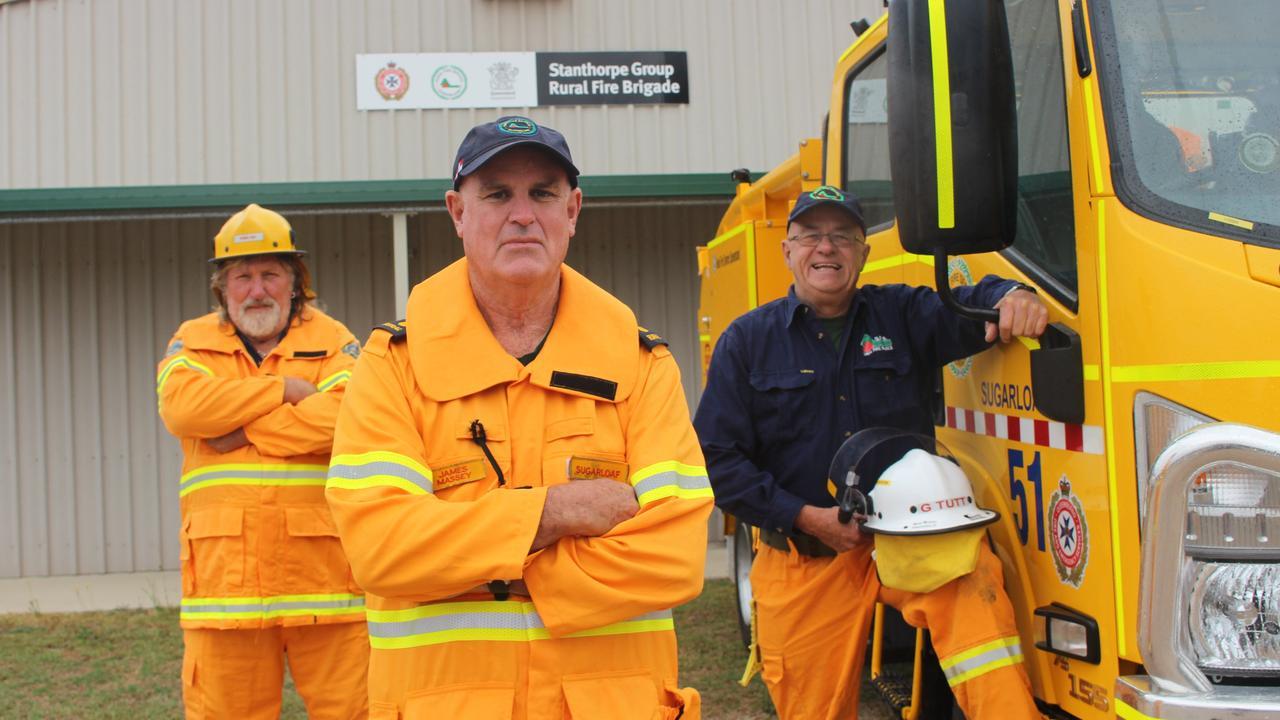 REASSURANCE: Rural fireys, Pedro Curr, James Massey and Garry Tutt.