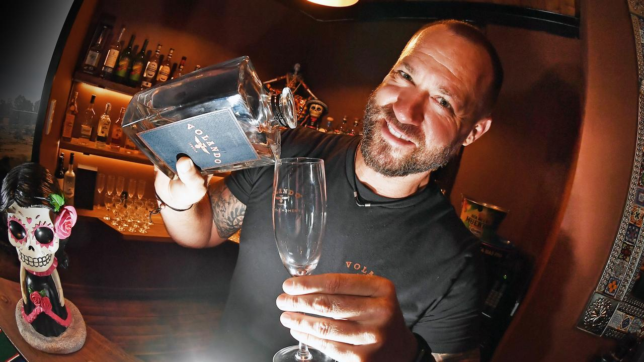 Adrian Hunter, a former military man and gym owner is about to launch a new tequila brand Volando. Photo Patrick Woods / Sunshine Coast Daily.