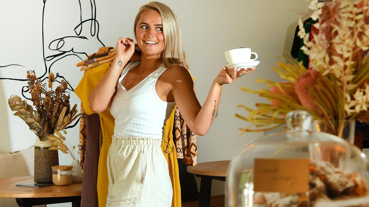 FASHION AND COFFEE: Owner of Antiquated in Minyama, Annabelle Mauger. Photo: John McCutcheon