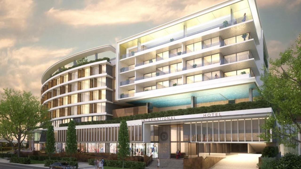 PLANS: The proposal for the Mooloolaba Motel site on Brisbane Road.