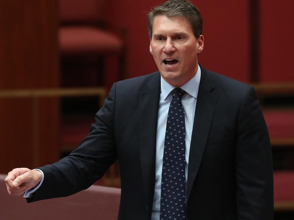 Senator Cory Bernardi speaking in the Senate. Picture Kym Smith