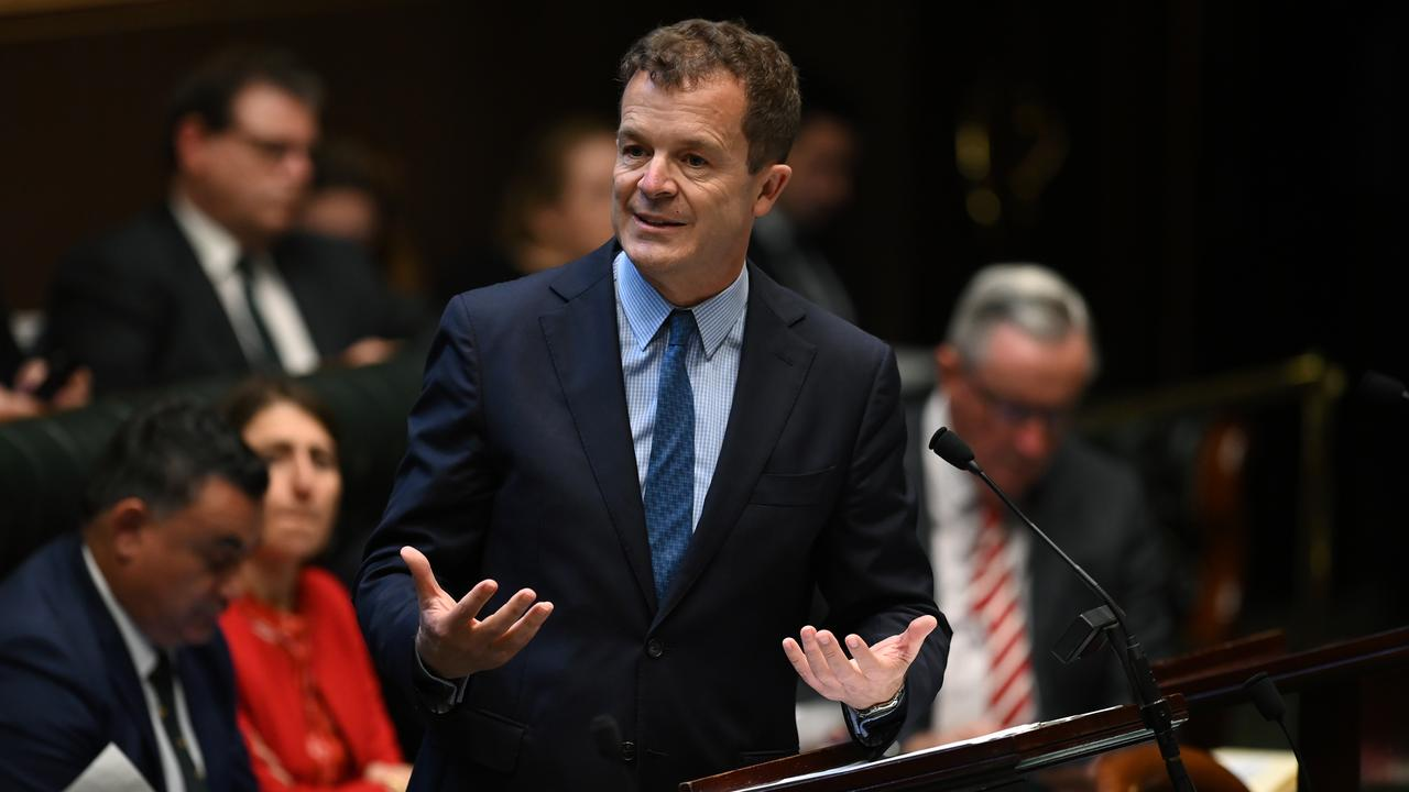 NSW Attorney-General Mark Speakman speaks during Question Time last week. Picture: AAP