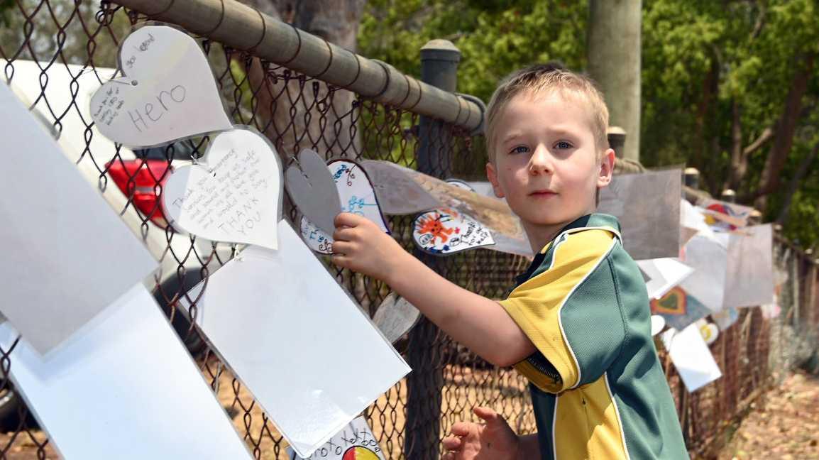 Samuel Welke a student at Geham State School, is the son of QRFS acting inspector, John Welke.