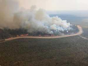 EMERGENCY ALERT: Fire burning through pine plantations