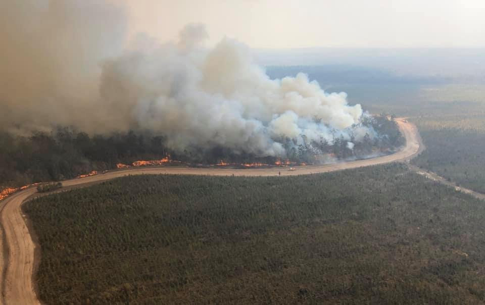 SOCIAL MEDIA IMAGE DISCUSS USE WITH YOUR EDITOR - Fire burning near Myall Ck Road.