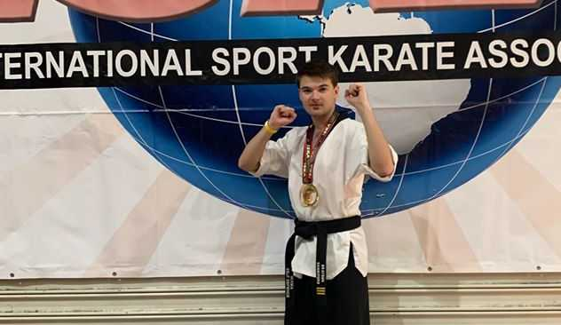 CHAMPION: Brayden Canniford recorded the highest kick in Australia at the ISKA national titles.