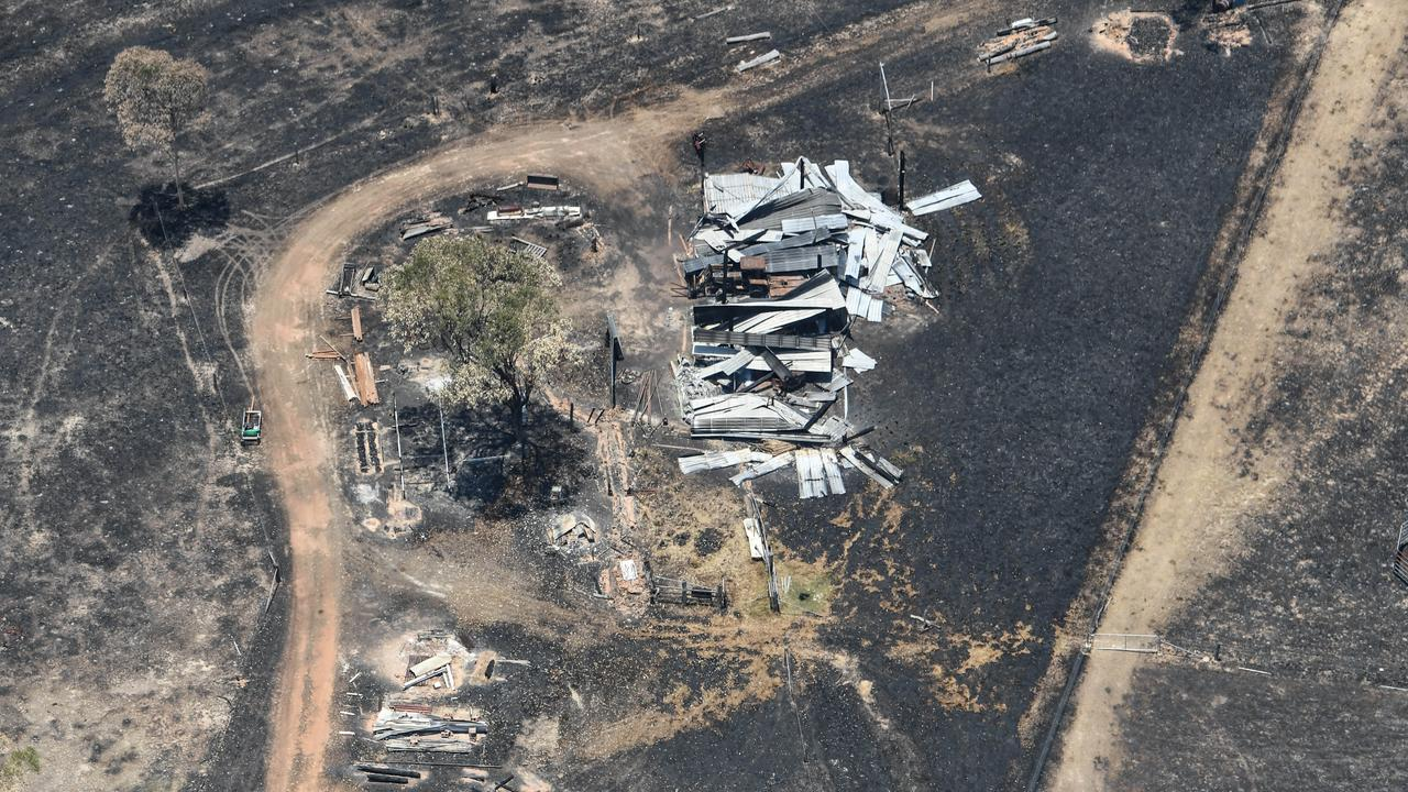 Aerial photos of Cobraball fire aftermath.