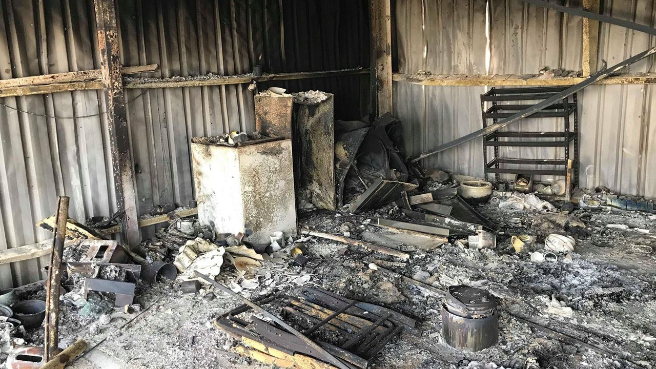 Petria and Greg Gay lost everything in a fire at Yeppoon on November 9.