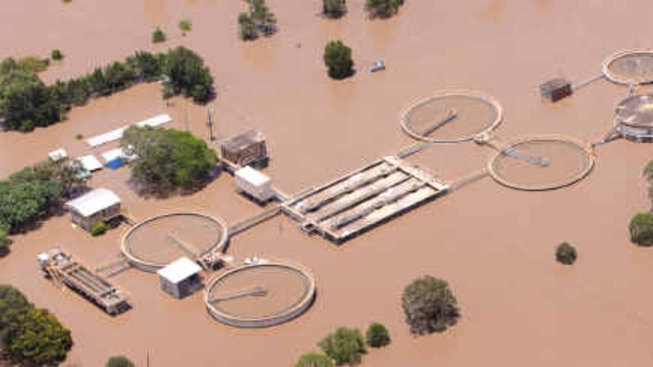 FLOOD PRONE: Rockhampton's sewerage treatment plant in Quay Street was inundated at the height of the 2011 flood.