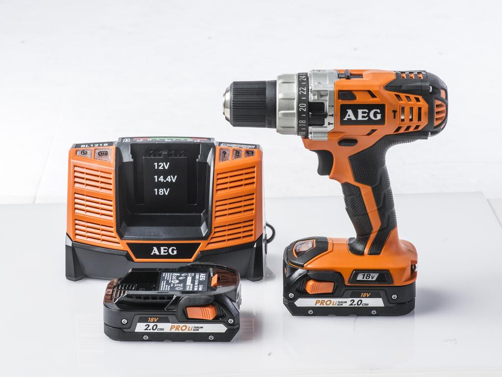 An example of a drill from AEG. Photo: Nick Clayton