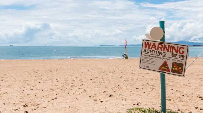 Schoolies scare as croc shuts down beach