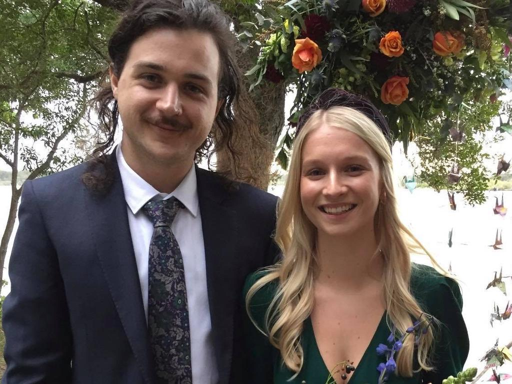 Sam Andrews and his girlfriend Grace Cooper at her university graduation.