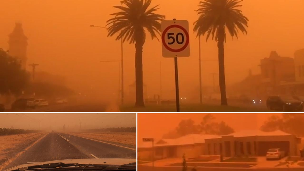 Scenes from Mildura today have been shared on social media. Footage via @jayson—butcher, @cmtesta and @LetsGetLost01.