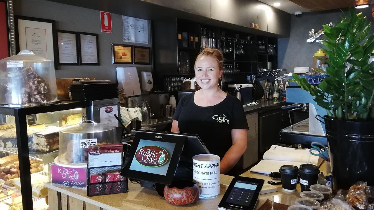 TEARS TO HER EYE: Ciara Peters was blown away by one customers generosity.