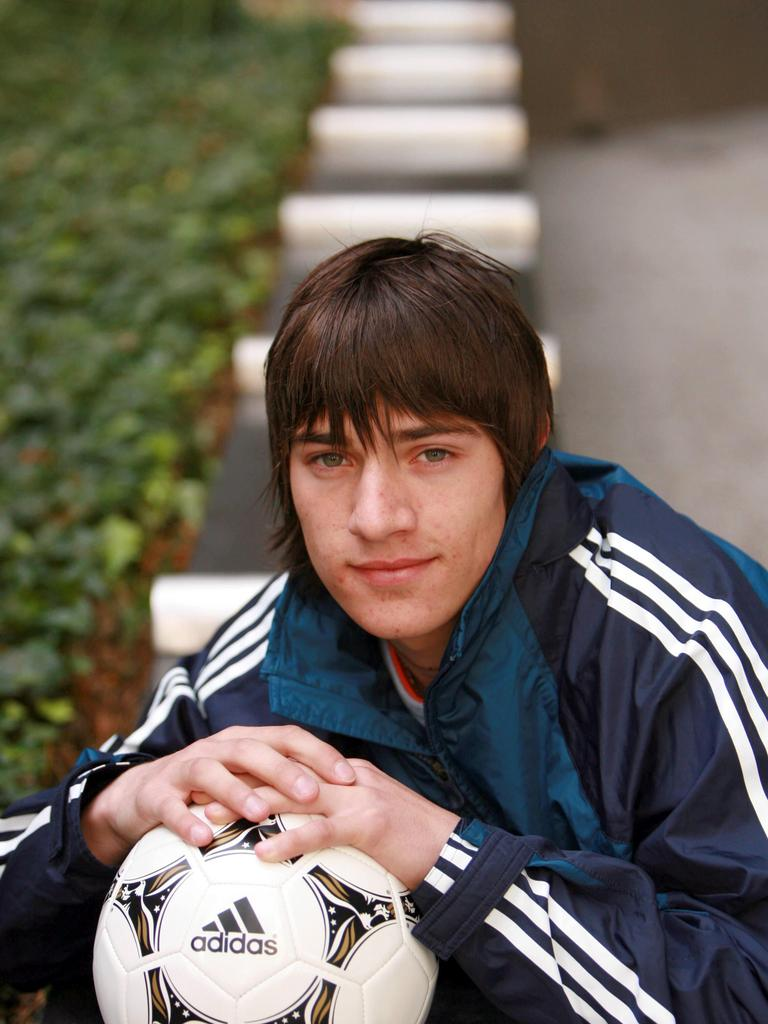 Teenage James Troisi during an off-season break in Adelaide.