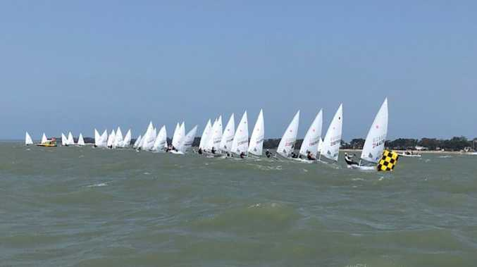 Challenging conditions greet sailors in State Laser Championships