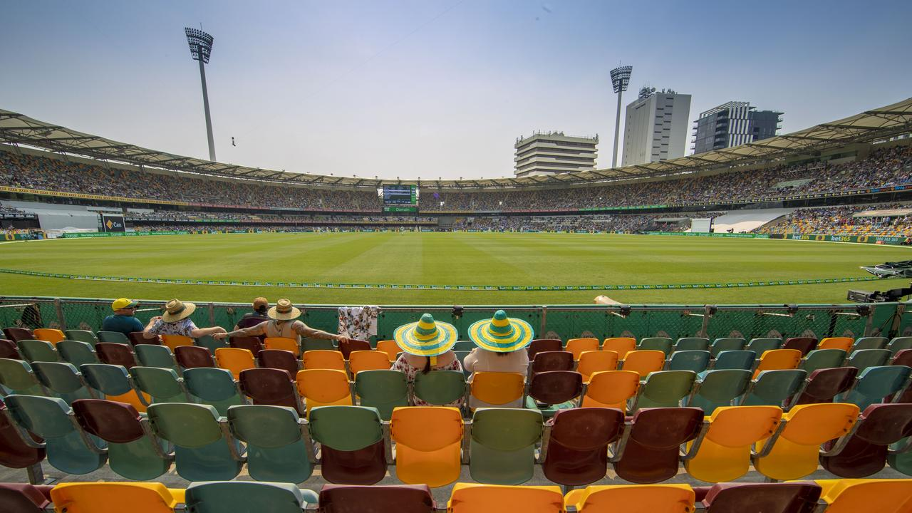 Plenty of free seats at the Gabba.