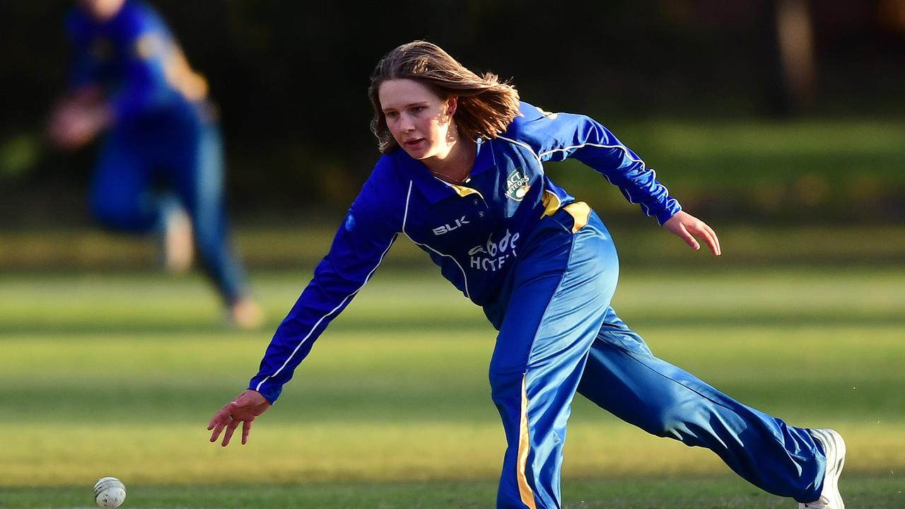 Carly Leeson of the ACT during the Women's National Cricket League (WNCL) One-Day match between Victoria and the ACT at Park 25 in Adelaide, Sunday, September 22, 2019. (AAP Image/Mark Brake)