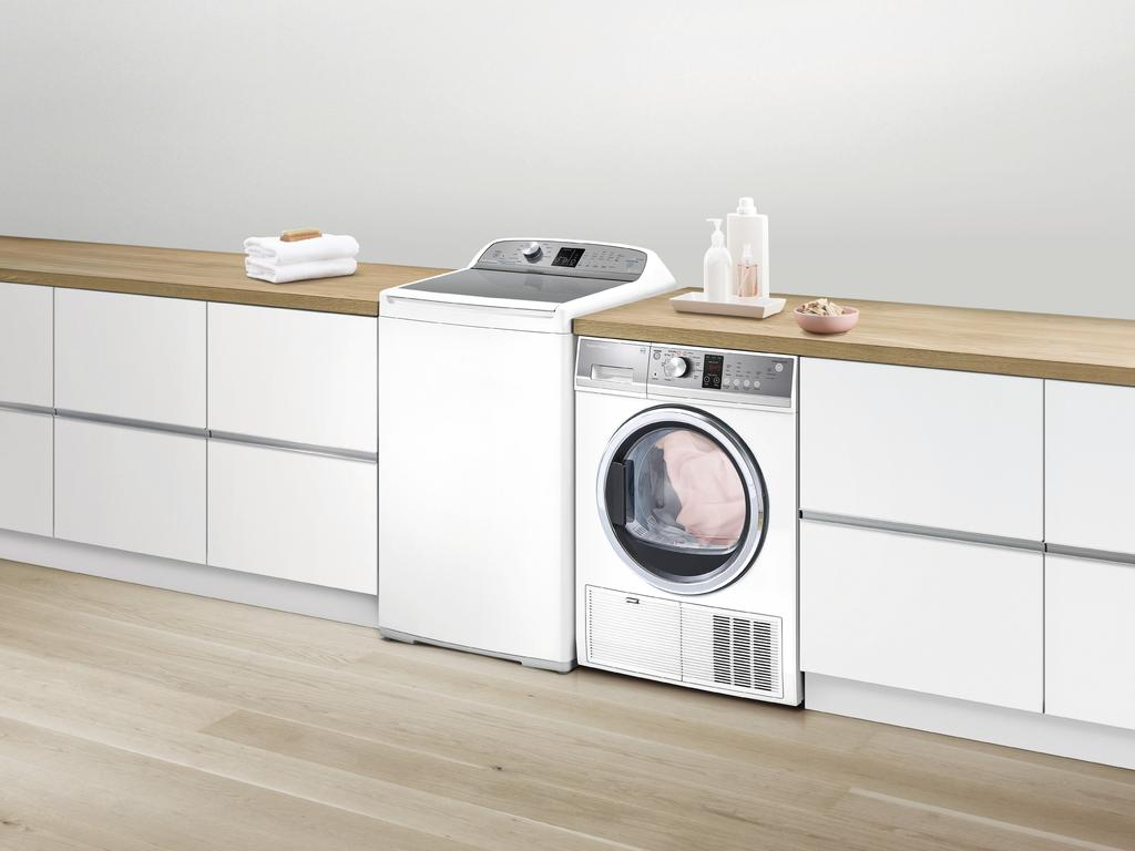 Fisher & Paykel washing machine and clothes dryer. Picture: Supplied