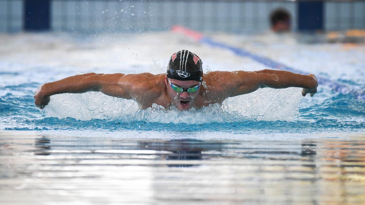POWERHOUSE: Rockhampton swimmer Jacob Spark in full flight in a butterfly event at the recent Tropic of Capricorn meet. Picture: Allan Reinikka