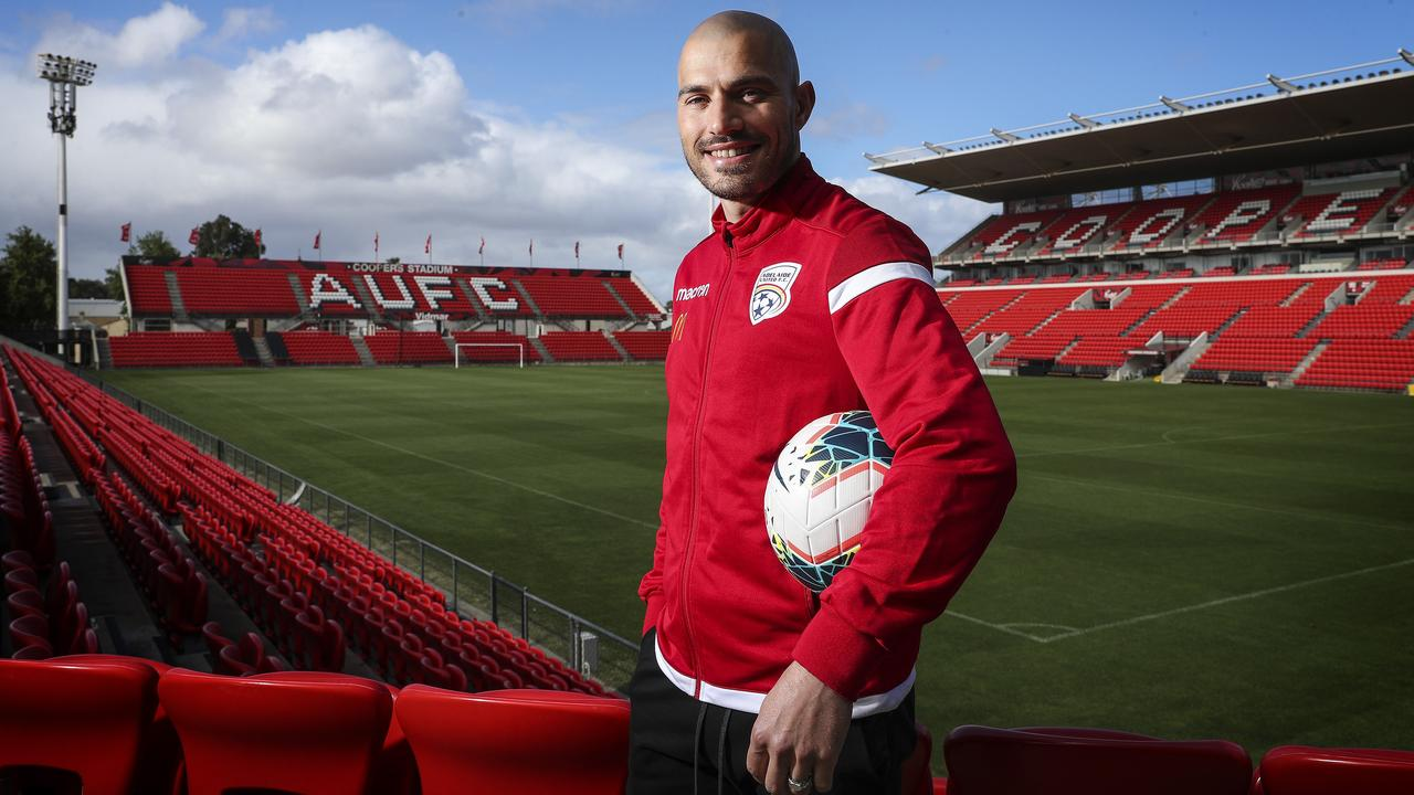James Troisi after returning home to sign for Adelaide United. Picture: Sarah Reed