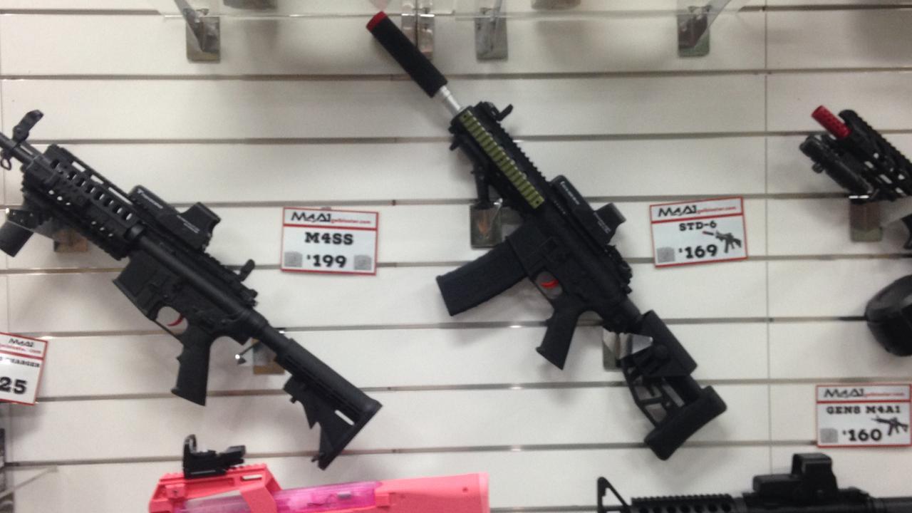 Gel guns were among the items stolen from a Balberra property.